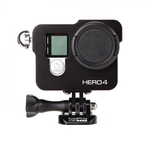 Рамка алюминиевая  для GoPro Hero 3, 3+, 4, Sjcam Sj 7 + UV фильтр