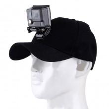 Кепка, бейсболка с креплением на голову для Gopro  и других экшн камер