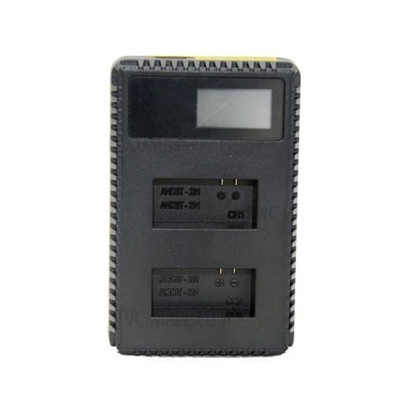 Зарядное устройство двойное для GoPro 3, 3+ с дисплеем