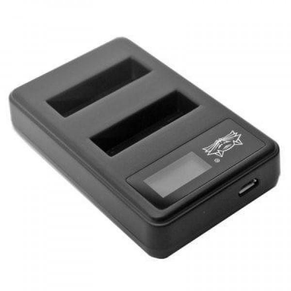 Зарядное устройство двойное для GoPro 4 с дисплеем