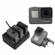 Зарядний пристрій потрійний для GoPro 5, 6, 7, 8