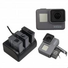 Зарядное устройство тройное для GoPro 5, 6, 7