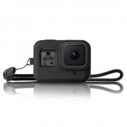 """Чехол силиконовый для GoPro Hero 8 Black с ремешком """"Telesin"""""""