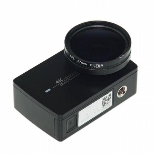 Поляризационный CPL фильтр 37 mm для Xiaomi Yi 4K, 4k+, Lite