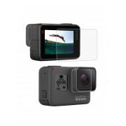Стекло для дисплея + стекло на объектив GoPro 5, 6, 7