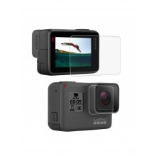 Стекло для дисплея + стекло на объектив GoPro 5, 6, 7, 2018