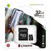 Карта памяти 32Gb MicroSD SDHC Kingston A1 100Mb\s