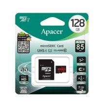 Карта памяти 128Gb MicroSD SDHC Apacer 85Mb\s