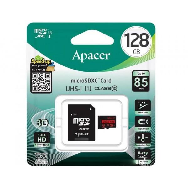 Карта пам'яті 128Gb MicroSD SDHC Apacer