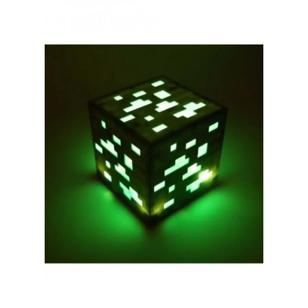 Led куб Ночник СМАРАГДОВА РУДА из minecraft майнкрафт