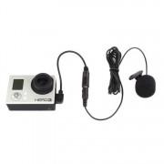 Петличный микрофон для GoPro Hero 3, 3 +, 4,  Sjcam SJ6, SJ7 (с съемным адаптером)
