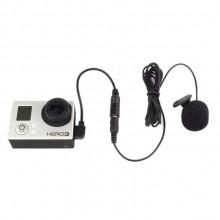 Микрофон петличный для GoPro 3, 4, SJ6, SJ7 (с съемным адаптером)