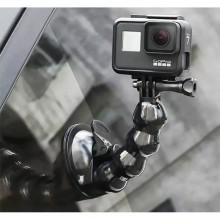 Присоска RuigPro с гибким выносом Gooseneck для GoPro и телефона