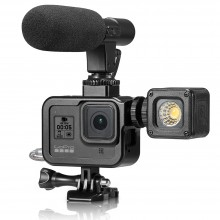 "Рамка алюминиевая для GoPro Hero 8 Black ""Shoot"" (влог рамка)"