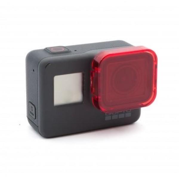 Красный фильтр для дайвинга для GoPro Hero 5, 6, 7, 2018 Black на камеру