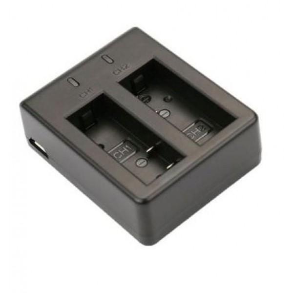 Зарядное устройство на 2 аккумулятора для SJCAM 4000\5000\7000\Eken