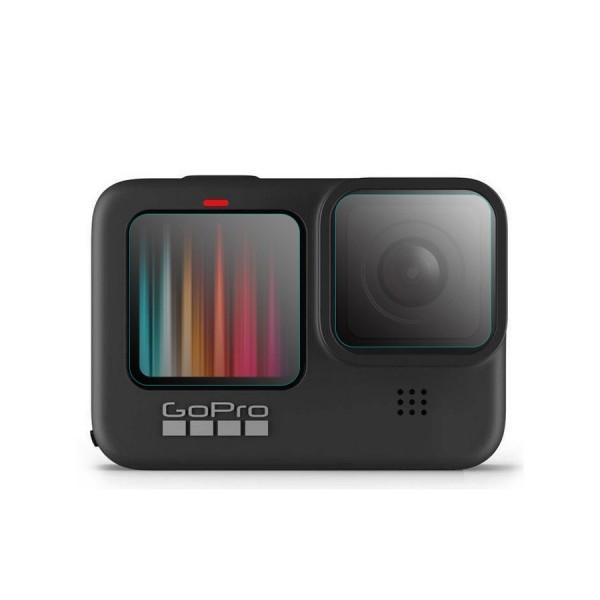 Стекло для дисплеев + стекло на объектив GoPro Hero 9 Black (3шт)