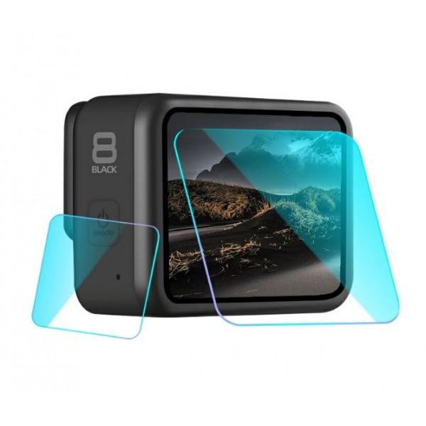 Стекло для дисплея + стекло на объектив GoPro Hero 8 Black (3шт)