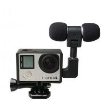 Микрофон стерео + рамка для GoPro Hero 3, 3+, Sjcam SJ6, SJ7