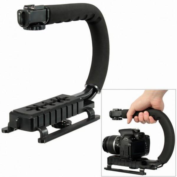 Ручка - стабилизатор U-образный с креплением для вспышки и GoPro или др. камер