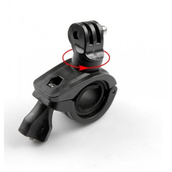 Велосипедне кріплення (на трубу) з поворотом (під кріплення GoPro)