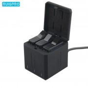 """Зарядний пристрій потрійний для GoPro 5, 6, 7, 8 """"RuigPro"""" (3 Slot Box)"""