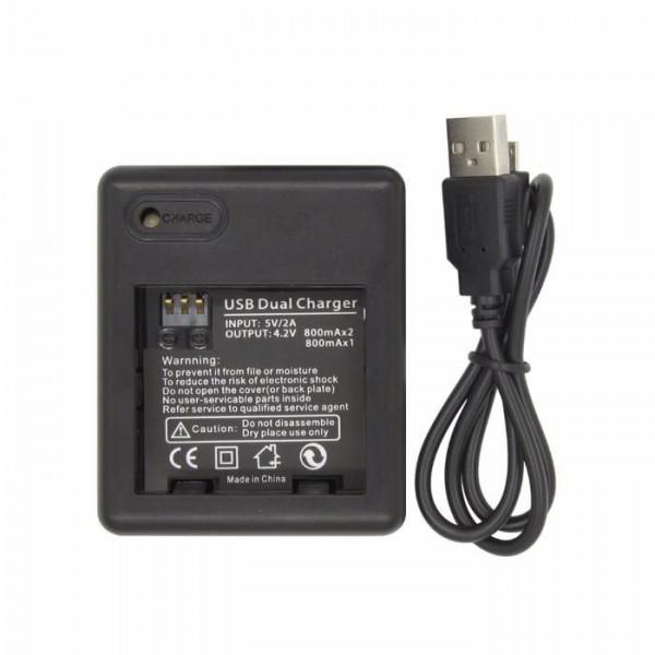 Зарядное устройство на 2 аккумулятора для Xiaomi Yi Sport, Travel, Basic